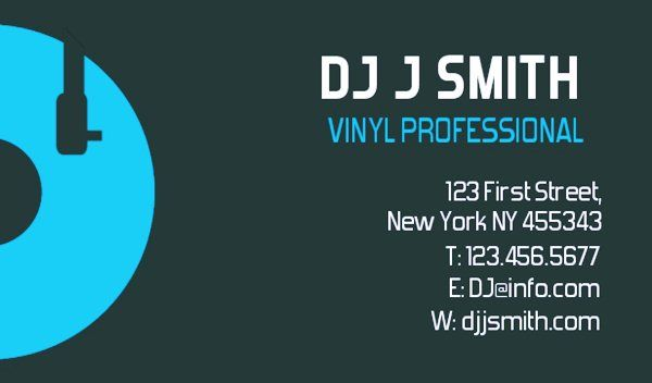 Custom DJ Business Cards Templates Free EmetOnlineBlog - Free dj business card template