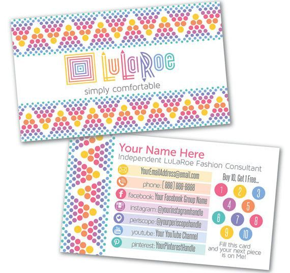 Etsy Lularoe Business Cards
