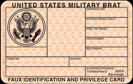 Free Blank Military ID Card Template EmetOnlineBlog - Card template free: blank id card template