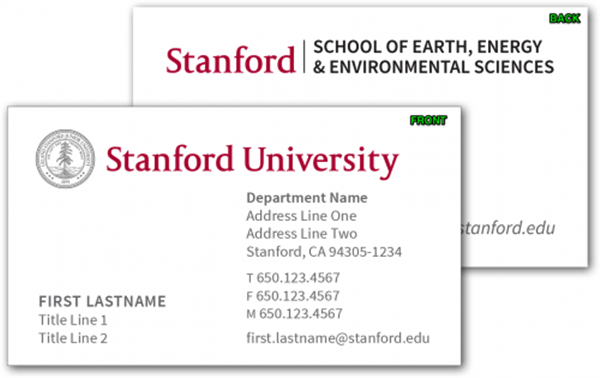 Graduate Student Business Cards Template