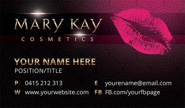Mary Kay Business Card Templates Free
