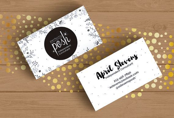 Perfectly Posh Business Card Template Emetonlineblog