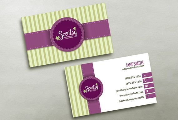 Free scentsy business card template ideas emetonlineblog free scentsy business card template accmission Images