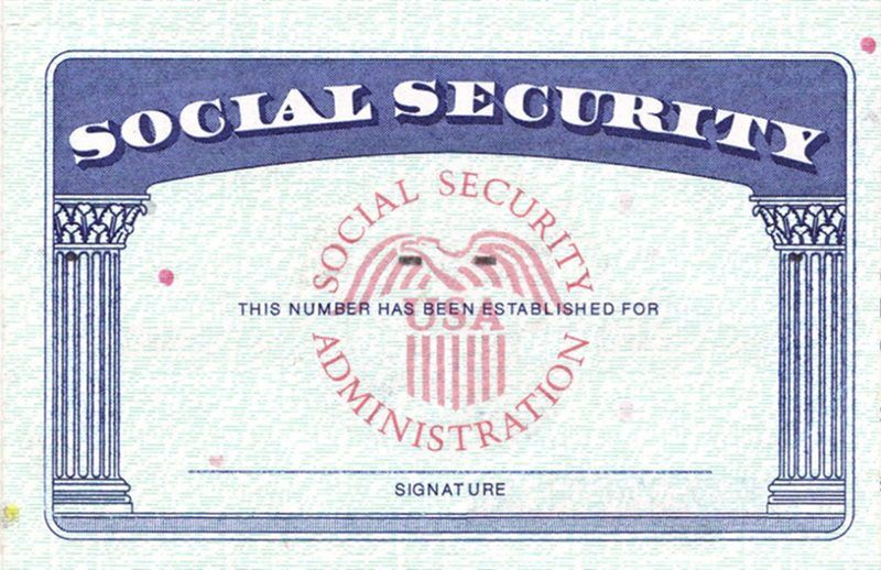 image regarding Printable Social Security Card Template titled Blank Social Safety Card Template EmetOnlineBlog