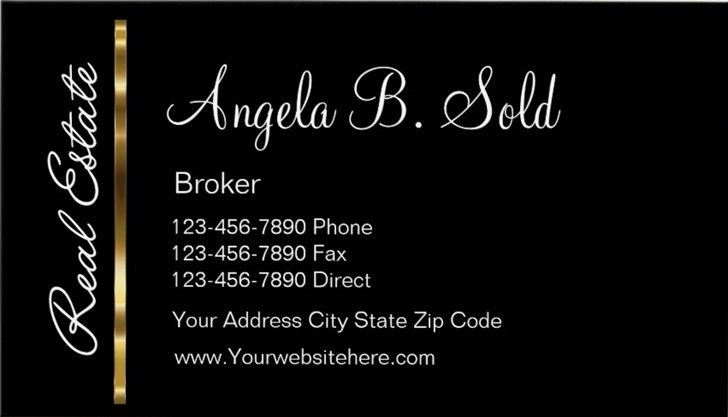 Classy Business Cards Templates Real Estate
