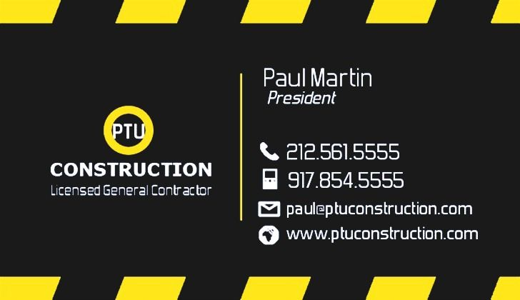 Unique construction company business cards ideas emetonlineblog construction company business cards colourmoves