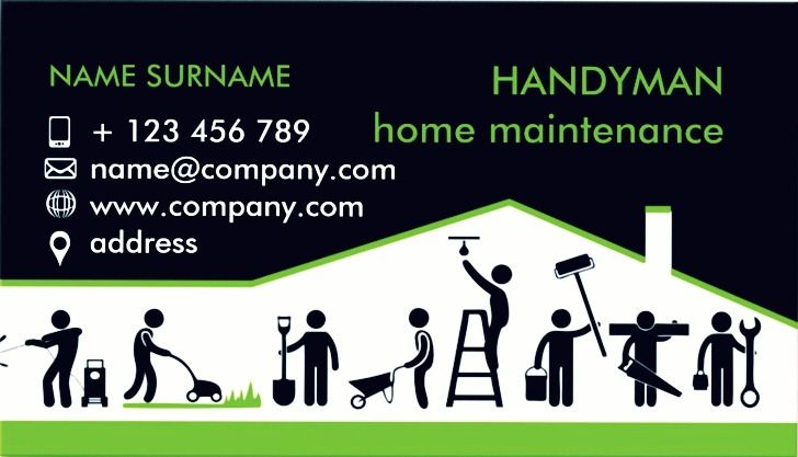 Handyman business cards template acurnamedia handyman business cards template flashek Image collections