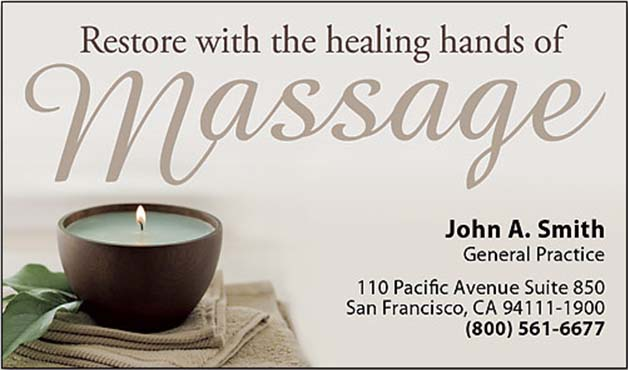 massage therapy business cards templates - Massage Therapy Business Cards