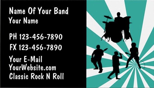 Music band business cards and templates emetonlineblog music band business cards tenplates colourmoves