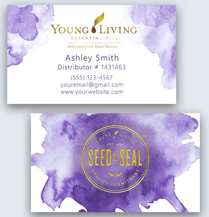 Young Living Business Card Template: Young Living Business Card Template