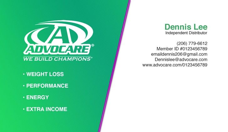 Advocare business cards and templates emetonlineblog advocare business cards template fbccfo Images