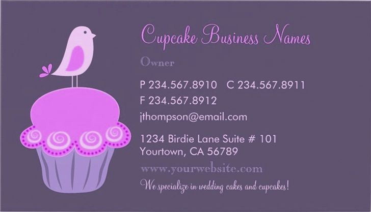 Cupcake business cards and templates emetonlineblog cupcake business cards templates cheaphphosting Image collections