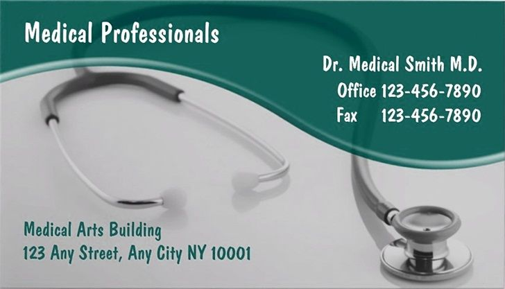 Medical Business Cards Design And Templates  Emetonlineblog