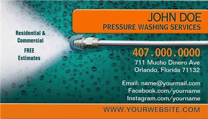 Pressure washing business cards and templates emetonlineblog pressure washing business cards templates fbccfo Image collections