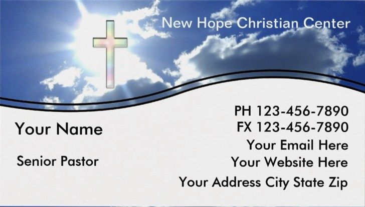 sample pastor business cards templates - Pastor Business Cards