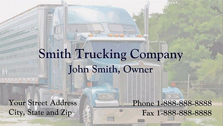 Trucking company business cards and templates emetonlineblog trucking company business cards templates colourmoves