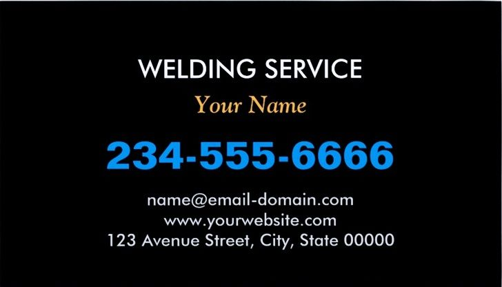 welding business cards templates - Welding Business Cards